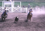 Team roping event during the 4th of July rodeo (GCCS_CCE017_6)