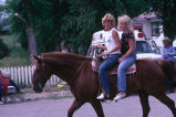Teenaged girls on horseback (GCCS_CCE018_16)