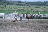 Calf roping event in the 4th of July rodeo (GCCS_CCE018_5)