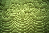 Wedding quilt made for the Brian and JoLene (K. Hill) Thompson wedding by Marge Thompson...