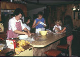 Kathleen, Terry, Angie, Tami, and Toni Tanner preparing the noon meal (GCCS_CCE021_14)