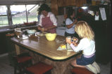 (left to right) Kathleen, Terry, and Tami Tanner preparing the noon meal (GCCS_CCE021_17)
