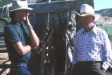 Thomas Carter interviewing Winfred Kimber at the old Frost homestead (GCCS_CCE023_3)