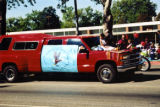 Intermountain Indian School float at Peach Days parade;