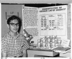 Eugene Bennally and his science project;