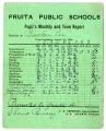 Report card of J. Bracken Lee, 1908;