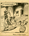 Cartoon depicting Governor J. Bracken Lee, Houston Chronicle, August 12, 1956;