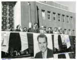Photograph of Richard Nixon at a rally in Ogden, Utah, 1952;