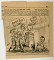 Cartoon depicting J. Bracken Lee as Julius Caesar with Bennett, Clyde, and Watkins depicted as his...