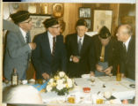 Photograph of the Last Squadron Club final meeting, March 1, 1986