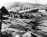 Klondike Mill on Beaver Creek up Logan Canyon, Utah, ca. 1901;
