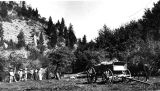 Peter Peterson family from Petersboro camping up Logan Canyon, Utah, July 1908;