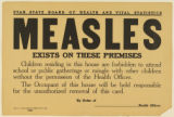 Measles warning sign