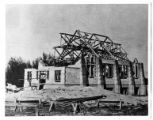 Construction of old Mendon church