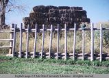 Feed fence, western Wyoming, 1963