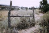 Barbed wire fence, Parawan, Utah, 1957