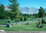 Panoramic view of cemetery, Ogden, Utah, 1976