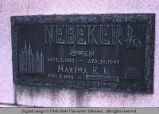 Gravemarker, Salt Lake City, Utah, 1971