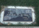 Gravemarker, Yakima, Washington, 1977