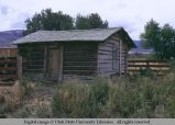 Log building, Albion, Idaho, 1970