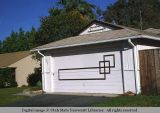 Garage door with geometric design, Venice, California, 1978
