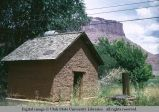 Adobe storage shed, Castle Valley, Utah, 1953