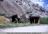 Log dugout, near Clayton, Idaho, 1967