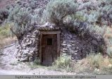 Stone-faced dugout house, near Clayton, Idaho, 1967