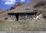 Stone-faced dugout house, Clayton, Idaho, 1967