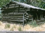 Log house with board roof, Utah, 1956