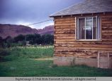 Modern log house, Moab, Utah, 1953