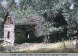 T-shaped log house, Elba, Idaho, 1970