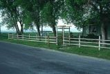 Ranch entrance, Cache Valley, Utah, 1977