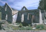 Stone house in ruins, City of Rocks, Idaho, 1970