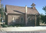 L.D.S. meeting house or school, Hanksville, Utah, 1972