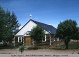 Log church, Dove Creek, Colorado, 1970
