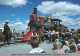 The Jupiter locomotive at Golden Spike Festival, Promontory Point, Utah, 1977