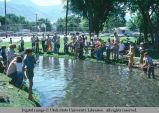 Fishing contest at Pioneer Day celebration, Logan, Utah, 1976