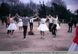 Dancing in the public park, Barcelona, Spain, 1969