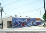 Mural on outside wall of U.S. Post Office building, California, 1978