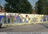 Mural on wall surrounding Little Sisters of the Poor, Los Angeles, California, 1978