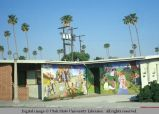 Mural on outside building walls, Venice, California, 1978