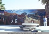 Venice Pavilion mural of train, Venice, California, 1979