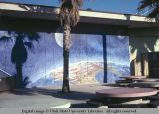 Mural of moon over earth at Venice Pavilion, Venice, California, 1979