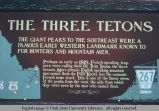 Origin of place name, Three Tetons, north of Ashton, Idaho, 1973