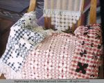 Pillow tops with various needlework, Moab, Utah, 1953