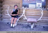 Chairs made of elk skulls and antlers, north of Lander, Wyoming, 1964