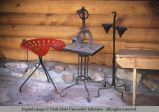 Metal patio furniture, Moab, Utah, 1953