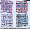 Nine-patch quilt blocks, Moab, Utah, 1953