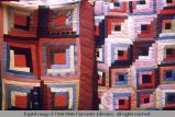 Two log cabin quilts, Moab, Utah, 1953